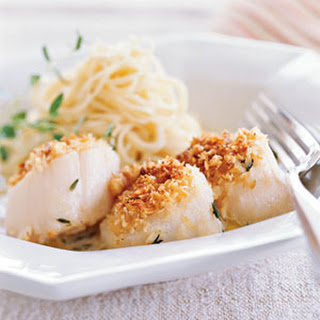 Hazelnut-crusted Scallops