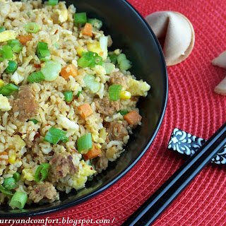 Quick Sausage Fried Rice.