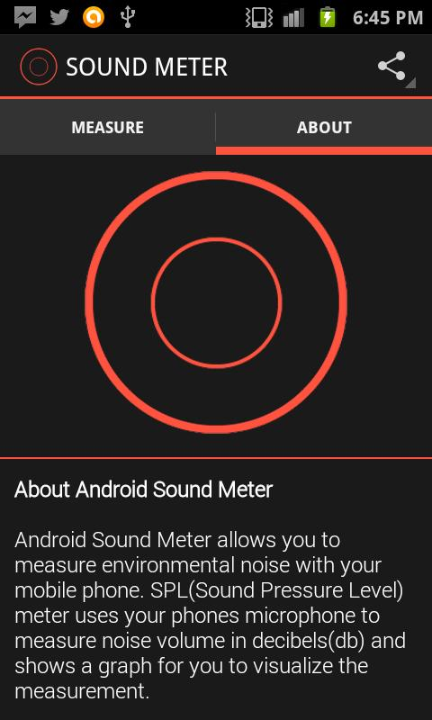 Android Sound Meter - screenshot