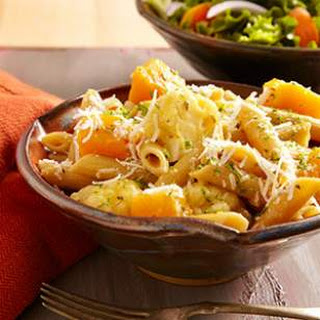 Braised Cauliflower & Squash Penne for Two.