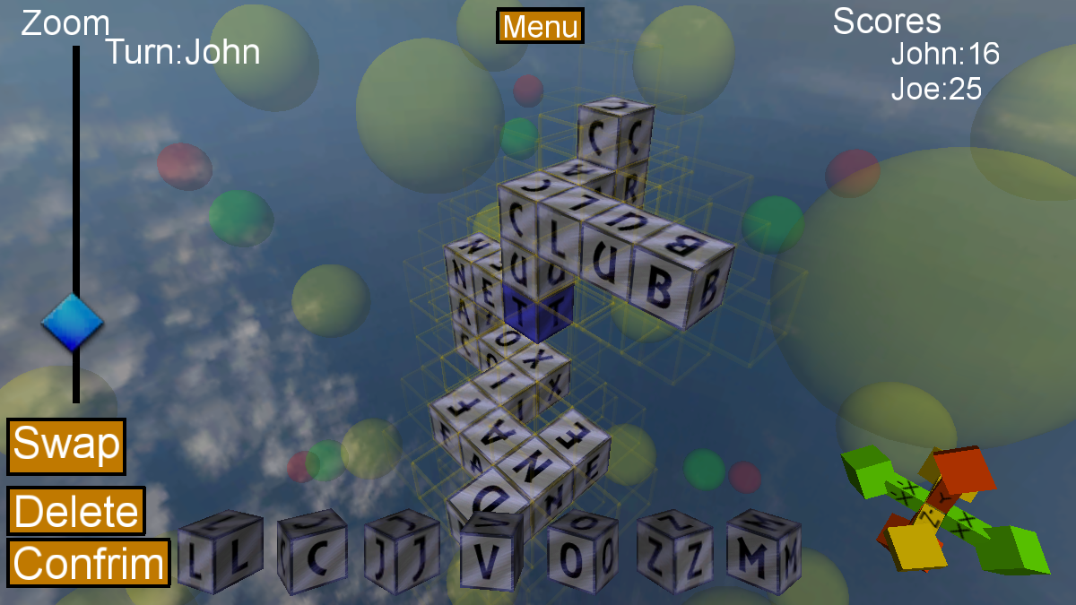 Words Cubed- screenshot