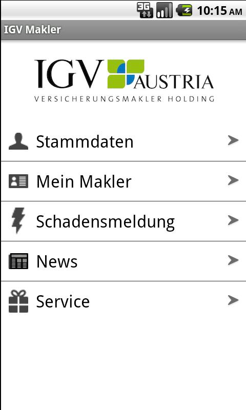 IGV Makler- screenshot