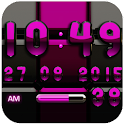 Digi Clock Black Pink widget icon