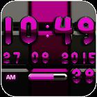 Digi 时钟黑色粉红色构件 icon
