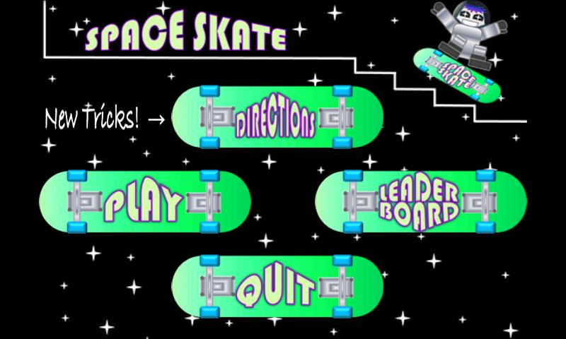 SPACE SKATE skateboarding - screenshot