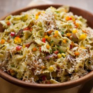 Pasta Salad with Green Onion Dressing