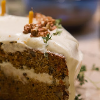 Carrot Cake with Tangy Orange Frosting.