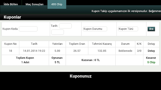 Kupon Takip (iddaa) - screenshot thumbnail
