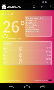 WeatherApp - screenshot thumbnail
