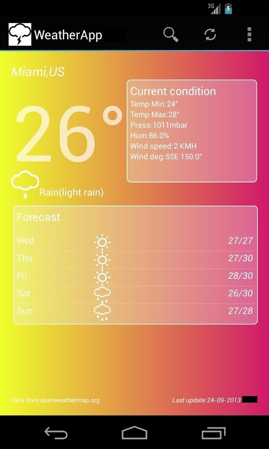 WeatherApp - screenshot