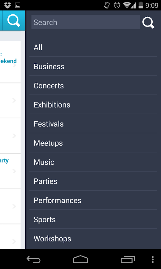 All Events in City - screenshot