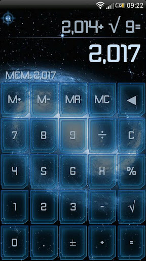 SCalc theme Blue Galaxy
