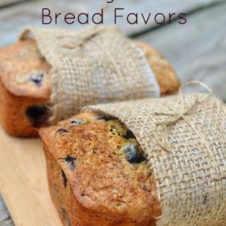 Blueberry Zucchini Bread Favors