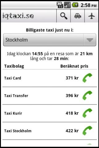 iqtaxi.se - screenshot