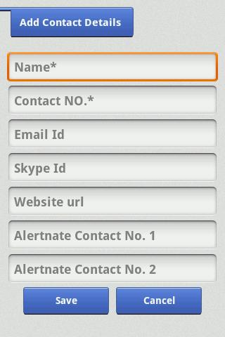 Contact Manager - screenshot