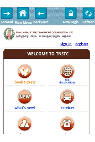 IRCTC and BUS Ticket Booking - screenshot