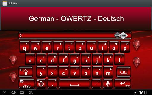 SlideIT German QWERTZ Pack