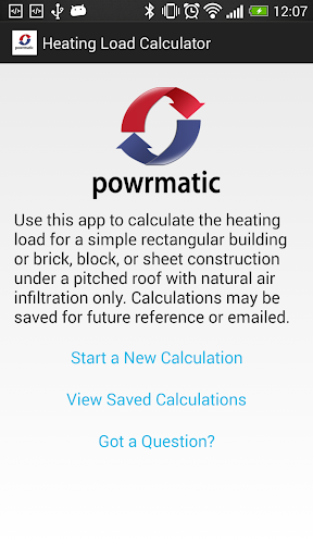 Powrmatic Heat Load Calculator