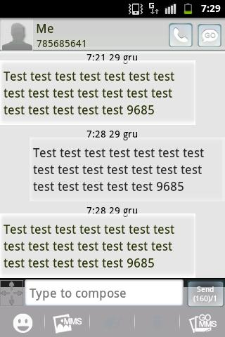 GO SMS PRO Theme - Black White- screenshot