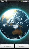 Screenshot of VA Earth Live Wallpaper