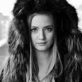 **** by Ivelin Zhelyazkov - Black & White Portraits & People ( style, wild hair, black and white, makeup, woman, art, varna photographer, natural light model, nikon, portrait )