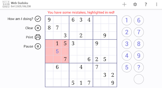 Web Sudoku- screenshot thumbnail