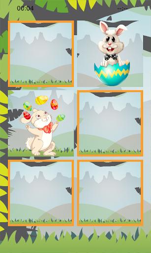 【免費解謎App】Easter Bunny Memory Puzzle-APP點子