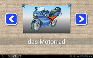 Screenshot of Learn to write German words