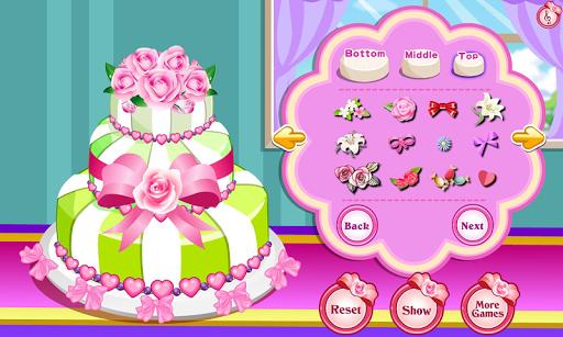 장미 웨딩 케이크
