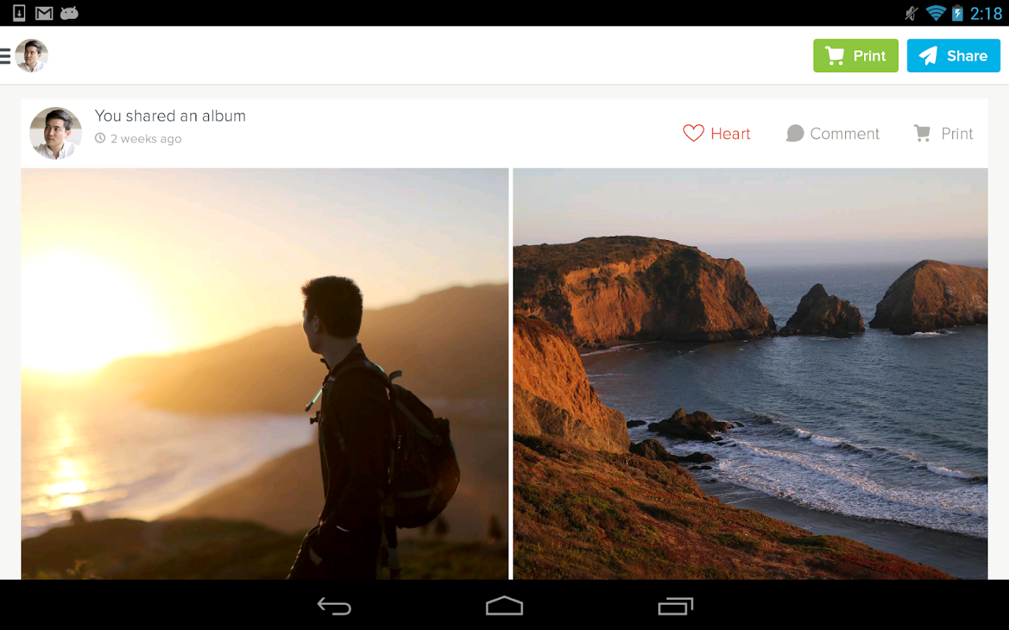 Kicksend: Share & Print Photos- screenshot