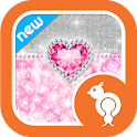 Bling Pink Leopard Theme SMS icon