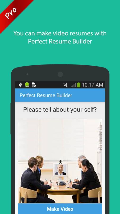 perfect resume builder pro screenshot