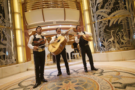 Star-Princess-mariachis - Mariachis greet guests before the Star Princess sails on an itinerary from San Francisco to Mexico.