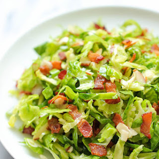 Brussels Sprouts Bacon Salad.