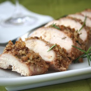 Walnut Rosemary Crusted Chicken