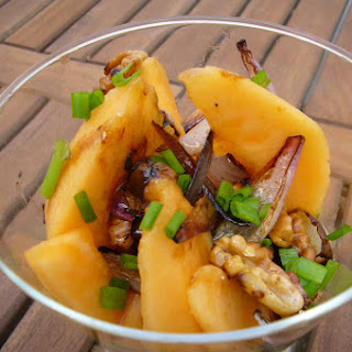 Melon, Red Onion and Walnut Salad..