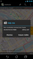 Screenshot of Androzic Tracker Plugin