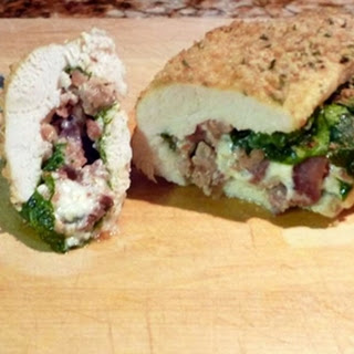 Spinach, Blue Cheese and Bacon Stuffed Chicken Breast.
