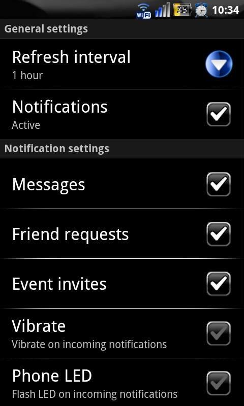 Purple Socialize for Facebook- screenshot