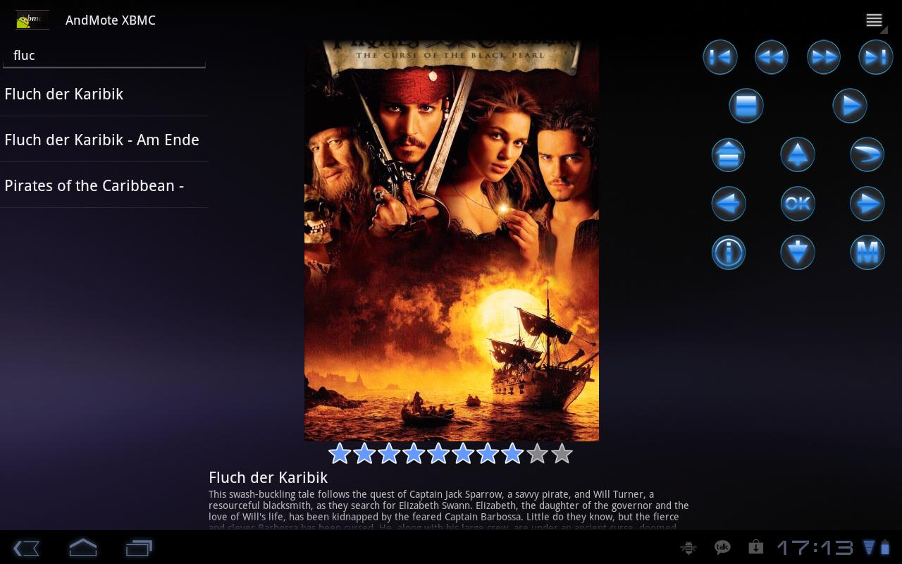 AndMote XBMC- screenshot