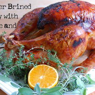 Juniper Brined Turkey with Orange Maple Pan Sauce.