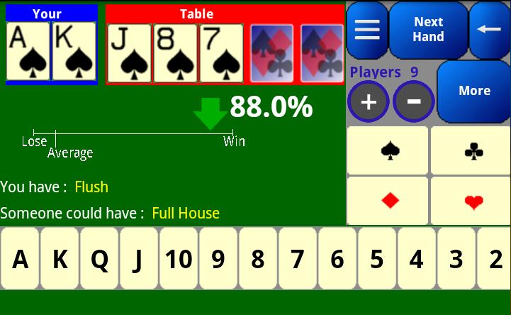 Poker Odds Calculator - screenshot