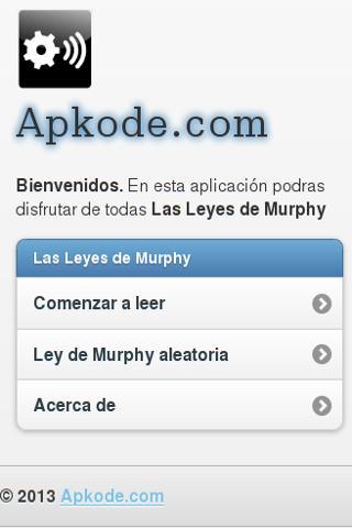 Murphy's laws- screenshot