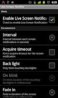 Screenshot of Live Screen Notifier