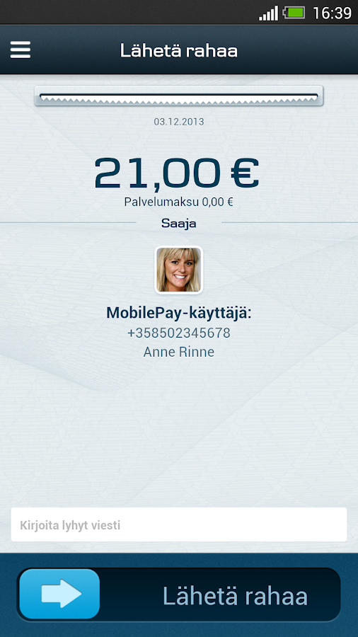 MobilePay FI - screenshot
