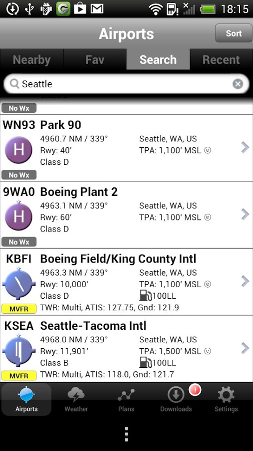 AOPA FlyQ Pocket- screenshot
