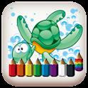 Colorear - mar icon