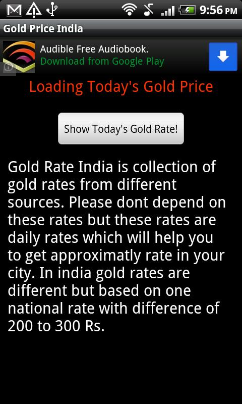 Live Gold Price India - screenshot