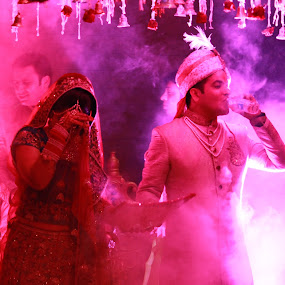 A Moment Of Joy by HeartMonster Ankush - Wedding Bride & Groom ( moment_of_joy, drinking, joy, happiness, getting_married )