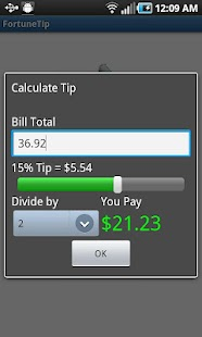 Fortune Cookie Tip Calculator - screenshot thumbnail